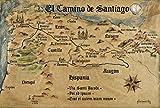 1art1 54099 Jakobsweg - EL Camino De Santiago Anno 1445,