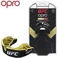 Protector bucal UFC Adulto para MMA, Boxeo, BJJ, Karate y Otros Deportes de Combate - 18 Meses de garantía Dental (Negro, Nivel de Protección: Oro)