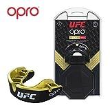 Opro Protège-Dents Adulte UFC pour MMA, Boxe, BJJ, Karaté et Autres Sports de Combat | Garantie Dentaire de 18 Mois (Black, Protection Level: Gold)...