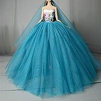 """Stillshine SG523 Fantasía Hecho a Mano Vestido de Novia el 11,5 """" para Barbie Doll/Vestido de muñeca/Accesorios de Las muñecas (Azul)"""