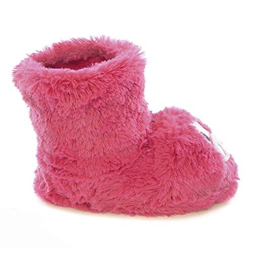 Kinder Plüsch Monster Hausschuhe Pink