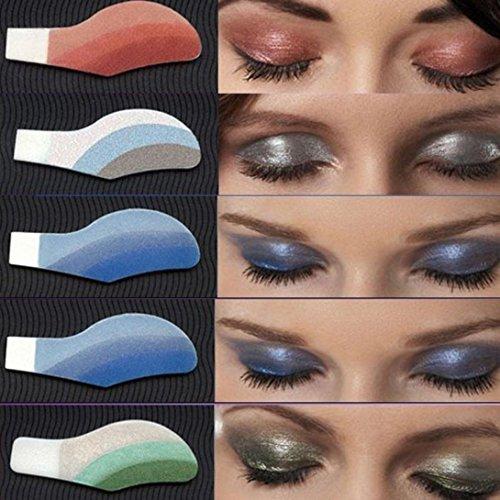 sunshineBoby 6 Paar Instant Eye Shadow temporäre Make-up Augen Tattoo Aufkleber,Farbe Glitter...