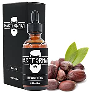 BARTFORMAT Premium Bartöl (60 ml) Geruchsneutral - Bartpflege Öl für einen Weichen Bart - mit Jojoba, Aloe Vera und Kamillen Öl