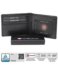KORUMA cuir exclusif portefeuille - Protegida RFID - finition de haute qualité - (KFR-93SNBL)