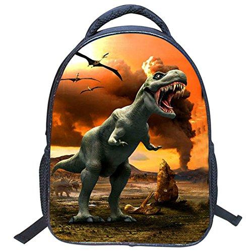 Imagen de jiyaru imprimir  dinosaurio patrón para niños bolso de escuela de guardería #2