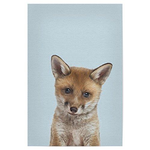 artboxONE Poster 90x60 cm Bild Kinderzimmer Für Kinder Baby Fox - Bild Fox Baby Fox Nursery - Fox-bild Baby