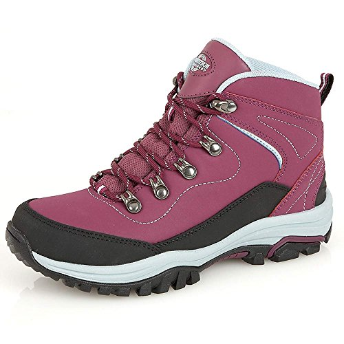 LADIES-LEATHER-LIGHTWEIGHT-WATERPROOF-WALKING-HIKING-TREKKING-ANKLE-BOOTS-SHOES-SIZE-3-4-5-6-7-8