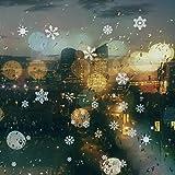 85 Fensterdeko Schneeflocken NICEXMAS Fensterbilder Schneeflocken(weiss) - Statisch Haftende PVC Aufkleber Test