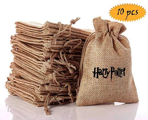 Harry Potter Baumwolle Säckchen mit Kordelzug, Kleine Stoffbeutel für Kindergeburtstag Hochzeit Party DIY Handwerk Mitbringsel ()