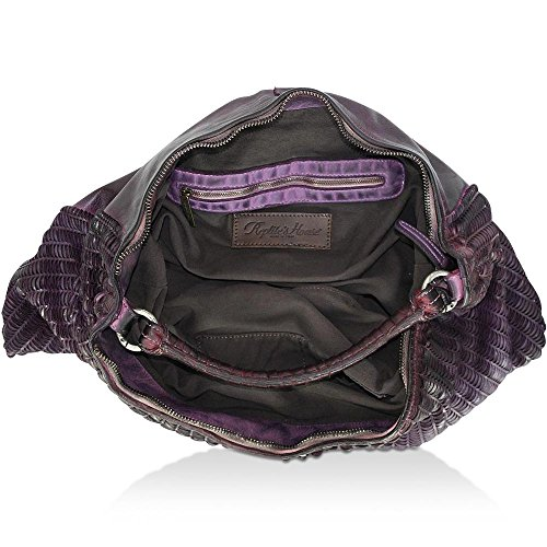 cm x REPTILES Purple Schultertasche Dark LUNE HOUSE 8 x BxHxT 46 54 aq4XzwqxR