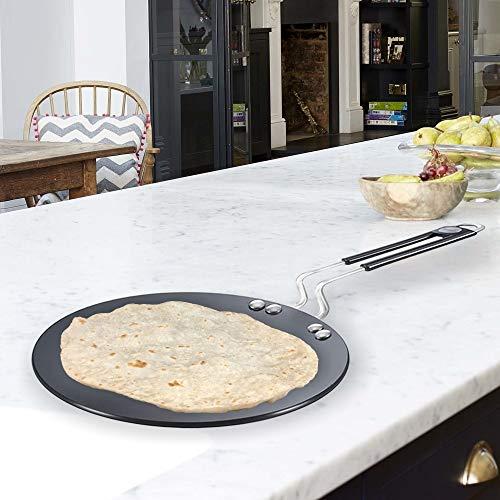 Prestige Hard Anodised Cookware Induction Base Paratha Tawa, 265mm, Black