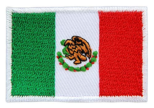 Patch Mexiko Flagge Klein Mexico Aufnäher Bügelbild Größe 4,7 x 3,2 cm