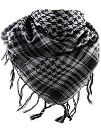 *** PROMOTION *** Foulard Palestinien - Keffieh - Chèche - Pashmina - Gris et Noir