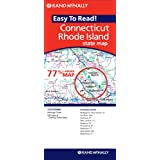 Rand McNally Easy to Read! Connecticut/Rhode Island State Map