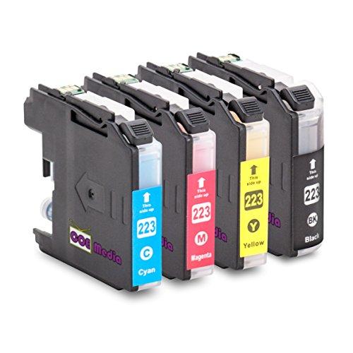 Preisvergleich Produktbild 4er Set - kompatible Tintenpatronen zu BROTHER LC223 | 1x BK mit 20ml & 1x C/M/Y mit je 10ml Inhalt | geeignet für Brother DCP-J4120DW MFC-Ink, MFC-J4420DW 4-in1, MFC-J4620DW 4-in-1, MFC-J4625DW, MFC-J4425DW Brother DCP-J 4120 DW, MFC-J 4420 DW, MFC-J 4425 DW, MFC-J 4620 DW, MFC-J4625 DW