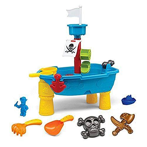 Brigamo 8939 – Piratenschiff Spieltisch Wasserspielzeug für Kinder, Spielzeug für die Badewanne oder Sandkastenspielzeug - 3