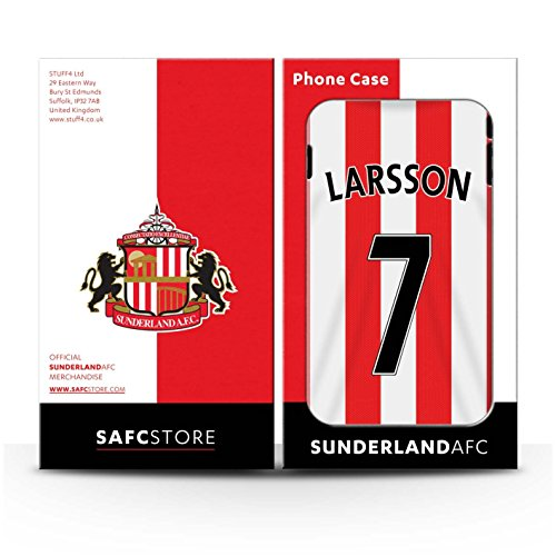 Offiziell Sunderland AFC Hülle / Gel TPU Case für Apple iPhone 5C / Pack 24pcs Muster / SAFC Trikot Home 15/16 Kollektion Larsson