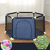 LXLX Kinder Spiel Zaun Baby Krabbeln Matte Kleinkind Zaun Indoor-Spielplatz Sicherheitszaun 1,8m (1 Matte + 100 Bälle)