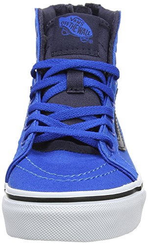 Vans Uy Sk8-hi Zip, Sneakers Hautes garçon Bleu (Canvas Imperial Blue/parisian Night)