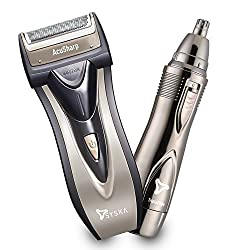 Syska Acusharp Reciprocating Shaver and Nose Hair Trimmer for Men (Multicolor)