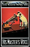 Blechschild Nostalgieschild His Masters Voice Hund Hochformat vintage Schild