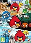 Angry Birds Trilogy bundles the original Angry Birds, Angry Birds Seasons and Angry Birds Rio.   The survival of the Angry Birds is at stake. Dish out revenge on the green pigs who stole the Birds' eggs. Use the unique destructive powers of the An...