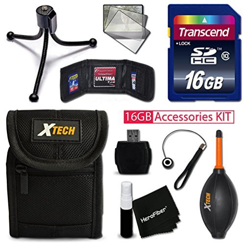 IDEAL 16GB Accessories KIT for Canon ELPH 170 IS IXUS 170 150 IS IXUS 160 340 HS 350 HS 320 HS Includes 16GB High-Speed Memory Card Premium Fitted Case Flexible Mini Tripod MORE  available at amazon for Rs.5151