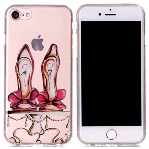 Voguecase® für Apple iPhone 7 4.7 hülle, Schutzhülle / Case / Cover / Hülle / TPU Gel Skin (macaron 03) + Gratis Universal Eingabestift Rot Schuhe mit hohen Absätzen 01