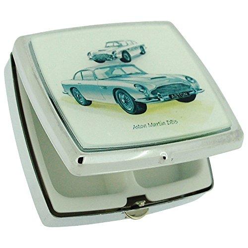 the-olivia-collection-silver-aston-martin-style-sports-car-pill-box-2-compartments-mirror-sc700