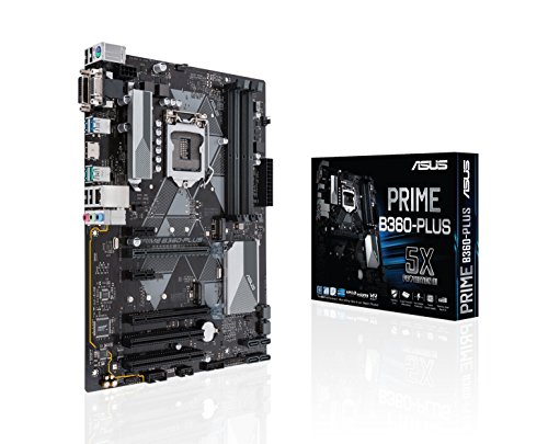 Asus Prime B360-Plus Mainboard Sockel 1151 (ATX, Intel B360, DDR4 Speicher, duales M.2, Intel Optane, 6Gbit/s SATA, USB 3.1 Gen 2) -