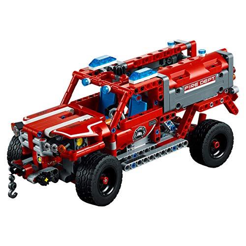 LEGO Technic - Equipo de Primera Respuesta, Juguete de Construcción 2 en 1 (42075)