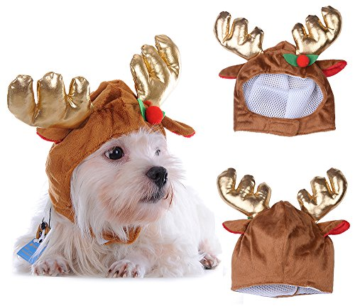 yunt Katze Kostüm Hund Kostüm Weihnachten Milu Deer Baseball Hat Happy Festival Xmas Pet Kostüm Deer Hat