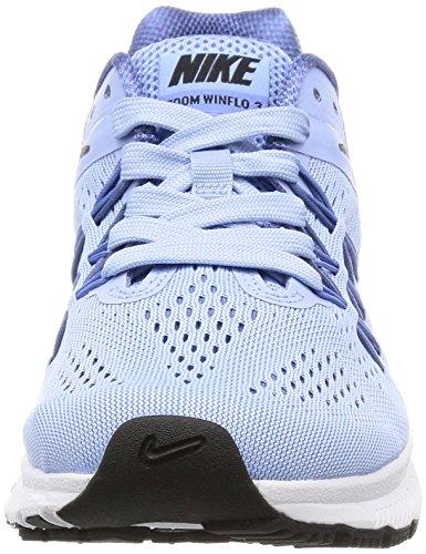 Winflo Femme Zoom polare Moon De Multicolore 3 Corso Nike Chaussures blu alluminio Nero Wmn wYEFqS