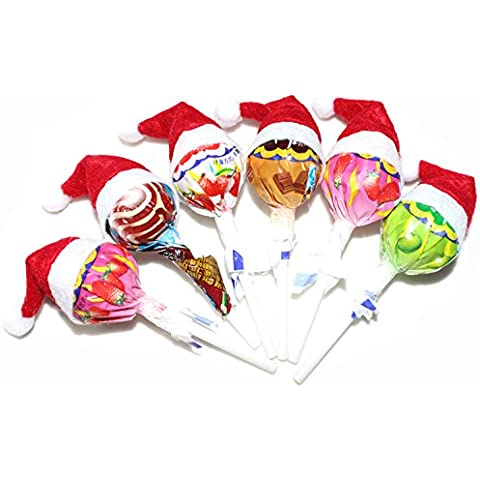 Vultera Lollipops (TM) di Natale Candy piccolo cappello Adornos Navidad casa 600pcs decorazione dell