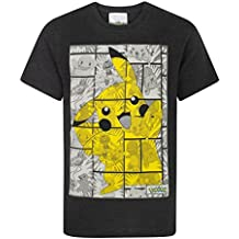 Pokèmon Pikachu Grey Panels Boys T-Shirt