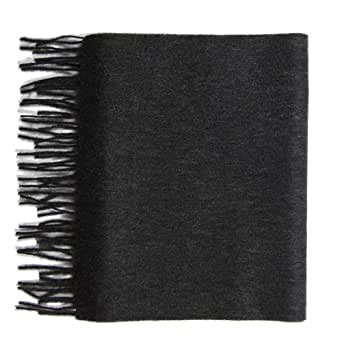 Pure Cashmere plain scarf, Charcoal Grey