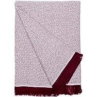 Basic Home Plaid/Foulard Multiusos - Cubre Cama - Sofa - Manta algodón Suave 180x270 cm Burdeos