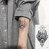 Oottati 2 Hojas Pequeño Lindo Tatuaje Temporal Tattoo Lobo