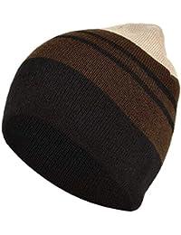c850ec911b5 DRUNKEN Unisex Winter caps for Men and Winter Cap for Women Winter Cap  Striped Warm Ribbed
