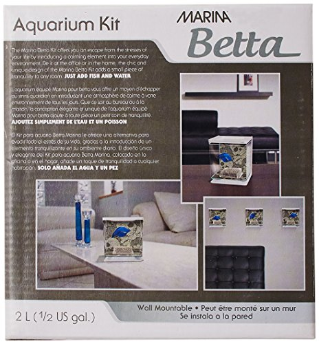 Marina Betta Kit Aquarium für Kampffische, Totenkopf-Design, 2 l - 4