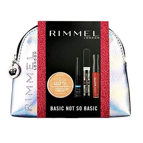 Rimmel Geschenkset - Makeup-Tasche, Powder, Mascara, Eyeliner und Lippenstift, 310 g