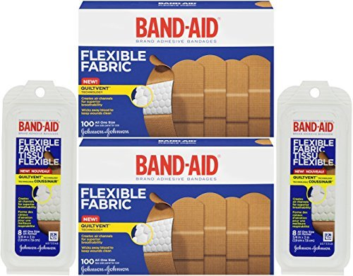 band-aid-adhesive-bandages-flexible-fabric-all-one-size-1-x-3-with-bonus-travel-size-8-ounce-by-band