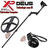 Xp Metal Detectors - Détecteur De Métaux Deus Light5 - Technologie Sans Fil - Casque Sans Fil Ws4 - Disque Dd 34X28 Cm Avec Protège Disque - Canne Télescopique En S