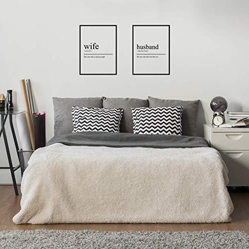 LL DECALS Wandtattoo aus Vinyl, Motiv Ehefrau und Ehemann, 63,5 x 48,3 cm Lustiges Liebes-Zitat für Paare, für Zuhause, Schlafzimmer, Wohnung, Dekoration ()