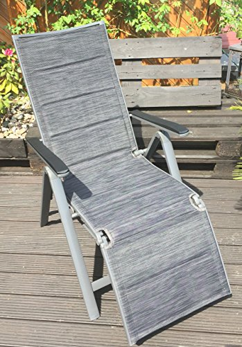 Verstellbarschwarz Aluminium Feelings Fach Garden 7 Relaxsessel Alu TKc1lFJ