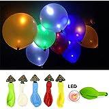 HociTech 30 Pcs LED Licht Up Ballone gemischte Farbe für Partei Hochzeits Festival Dekoration