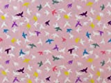 Fleecestoff Antipilling, Colorful Birds, rosa multicolour,