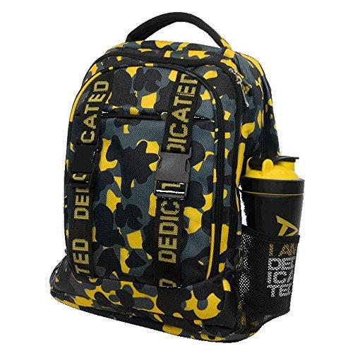 Dedicated Nutrition Premium Camo Rucksack Gym Laptop-Tasche mit Mehreren Fächern -