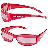 Taffstyle® Fanartikel Sonnenbrille Fan Brille zur Fussball Weltmeisterschaft WM & EM Europameisterschaft 2016 Länder Flagge Style - Österreich