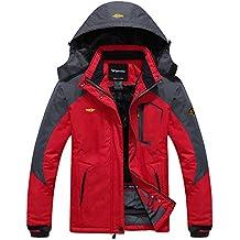 Wantdo Chaqueta Esquí Impermeable Contraiento con Forro Polar de Senderismo para  Mujer 680e169db0e05